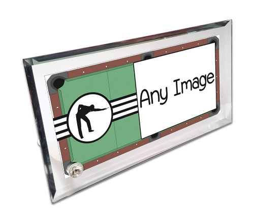 Personalised Pool Player Crystal Photo Frame